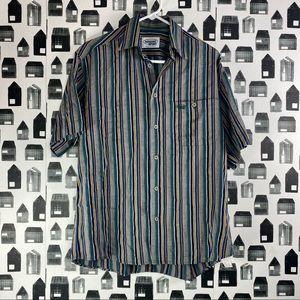 Missoni Sport Mens Vintage Striped Button Up Shirt